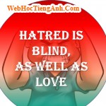 Hatred is blind, as well as love