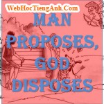 Man Proposes, God Disposes.