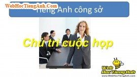 Video 6: Chairing a Meeting - Business English for Workplace, 809, Uyên Vũ, Academy.MuaBanNhanh.com, 06/11/2013 16:29:27